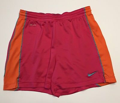 Nike Dri-Fit Athletic Womens Running Shorts Size Small S Hot Pink Orange Mesh