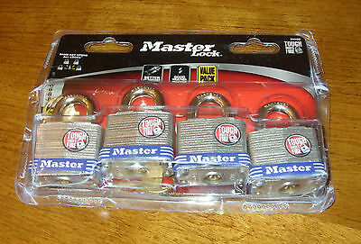 "4 Tough Under Fire Master Locks 3/4"" Padlocks, New"