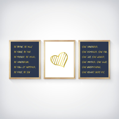 Gold quotes //// gold foil print //// the universe //// inspirational //// empowering ////