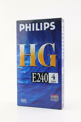 Phillips HG E240 VHS Blank Video Cassette Tape. 240 Min High Grade VHS Tape. VCR