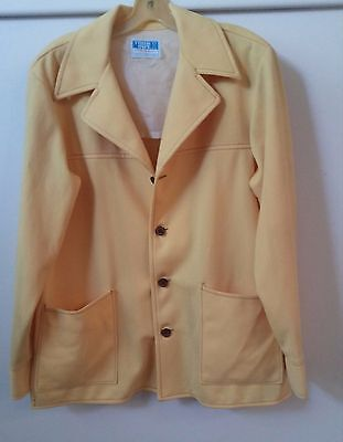 Men's Canary Yellow jacket 70's vintage leisure suit style taking offers!