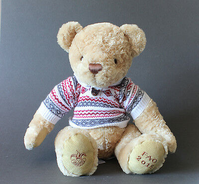 FAO Schwarz 2015 tan TEDDY BEAR in Sweater