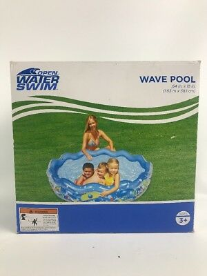 "Open Water Swim Wave Pool 64"" x 15"" w/ 3 Safety Valves 3 air chambers NEW in Box"