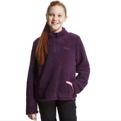 Peter Storm Girls' Teddy Half Zip Fleece Outdoor Clothing Purple