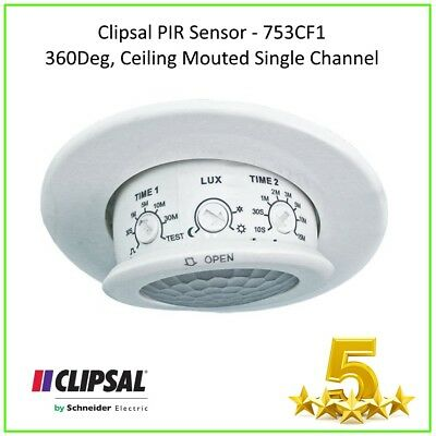 1 x 753CF1 PIR SENSOR, 360DEG, CEILING, SINGLE CHANNEL