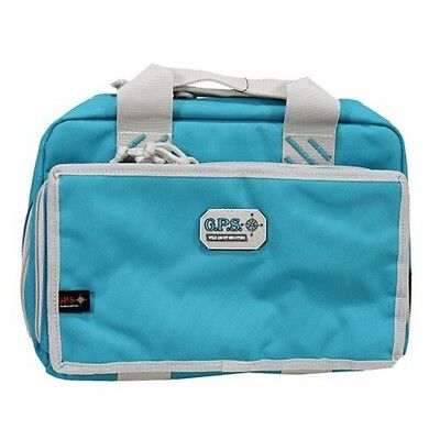 G Outdoors GPS-1310PCRB G.P.S. Quad Pistol Range Bag - Robin Egg Blue