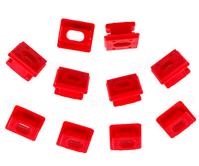 10pcs Dash Trim Grommet Clips Insert Red For BMW E46 X3 E85 E65 E66 7 Series