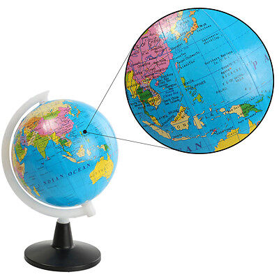 World Globe Atlas Map With Swivel Stand Geography Educational Toy Diameter 8.5cm