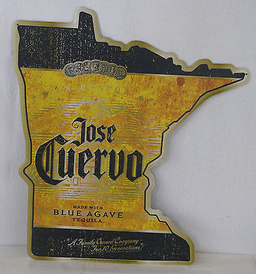 Jose Cuervo Tequila Minnesota Tin Sign for Man Cave Game Room - Brand New!