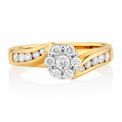 18ct (750, 18K) Yellow Gold Ladies Michael Hill Engagement/Diamond Ring