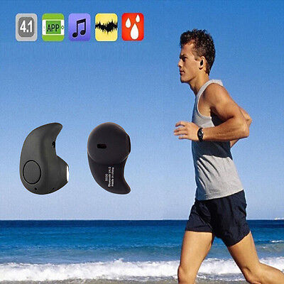 NUOVO nero Bluetooth Wireless 4.0 AUDIO AURICOLARI AURICOLARE CUFFIE