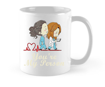 11oz Coffee Mug Tea Cup - Grey Anatomy You are My Person Love Funny