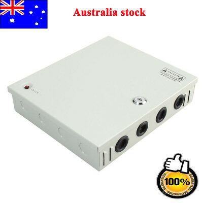 9 Channel 8CH CCTV Security Camera Distribution Power Supply Box DC 12V 10A