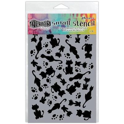 Dylusions Stencil - Small 5x8 - Its Raining Cats