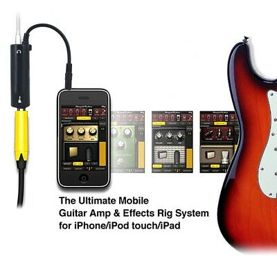 Rig Guitar Audio Interface AMP Amplifier Convertor Adapter Cable For iPhone iPad