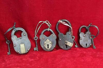 Vintage Antique Iron Brass Old Locks and Keys Safety and Decor Collectible PW-80