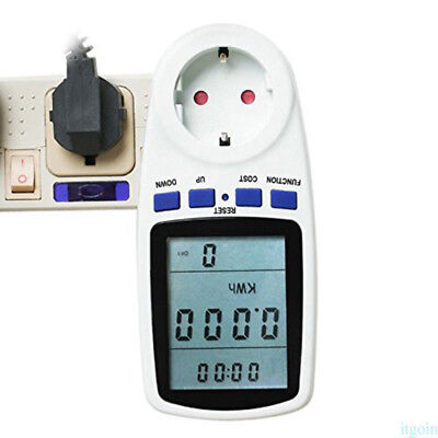 Power Consumption Meter Energy Monitor Calculator Usage Plug In Electricity ZW1