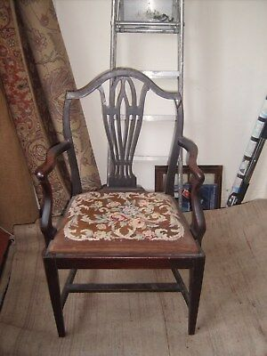 Lovely Antique Hepplewhite Style Carver Chair needs repair