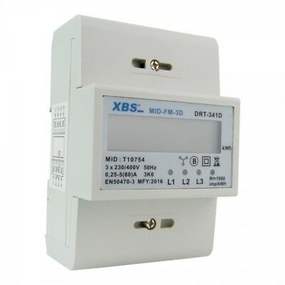 ELECTRIC METER 3P 3x5 (80) A THREE-PHASE mid-fm-3d XBS 2024