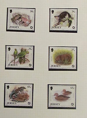 Jersey Postage Stamps International Wiidlife mint