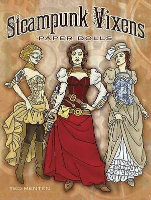 Steampunk Vixens Paper Dolls by Ted Menten BRAND NEW BOOK (Paperback, 2014)
