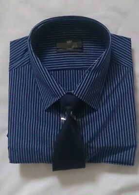 MENS SHIRT AND TIE SET  Ex M&S Collection SIZES 15, 16, 16.5, 17, 17.5, 18