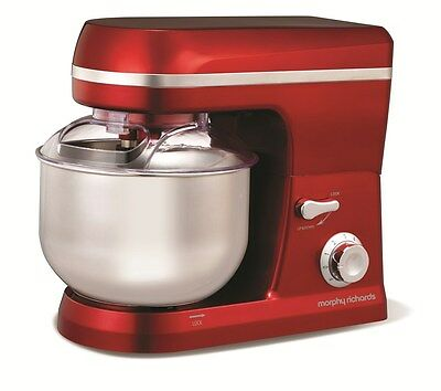 Morphy Richards 400010 Stand Mixer 6 Speed 800W 5L Red Or Black – New Boxed