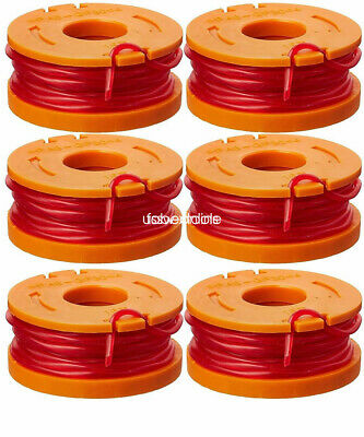 WORX GT Spools Line WA0010 10-Foot Replacement Grass Trimmer/Edger Spool 6-Pack
