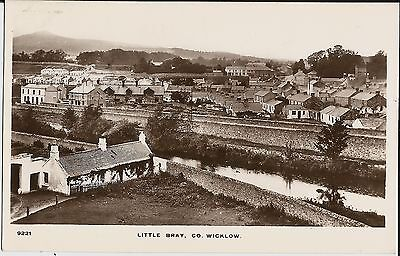 Houses, etc., in Little Bray, Co Wicklow, Ireland, on mint real photo postcard