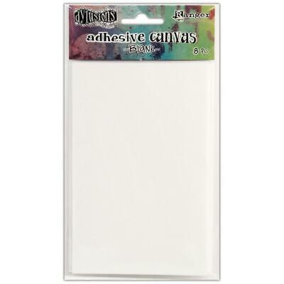 Dylusions Adhesive Canvas - White - 8 Sheets