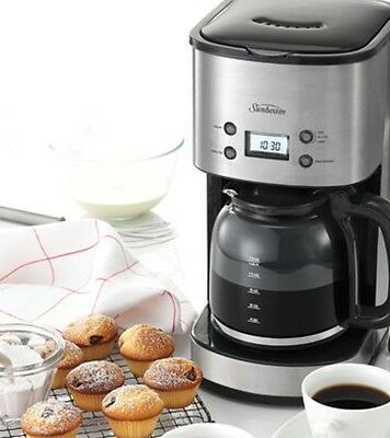 Drip Coffee Maker With Timer : New Sunbeam Pc7900 Stainless Programmable Drop Filter Coffee Machine 2 Yrs Wnty AUD 64.00 ...
