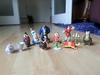 12    Figure Disney Beauty and The Beast    figurine toy