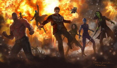 """034 Guardians Of The Galaxy VOL 2 - Fighting Hot Anime Movie 23""""x14"""" Poster"""