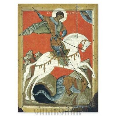 St George and the Dragon Icon Russian Orthodox Icon 7x9cm