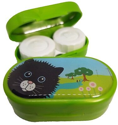 Cute Animals Mirror Case - Contact Lens Soaking Storage Case UK MADE - Cat