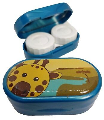 Cute Animals Mirror Case - Contact Lens Soaking Storage Case UK MADE - Giraffe