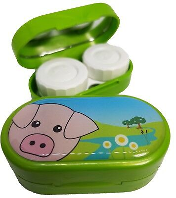 Cute Animals Mirror Case - Contact Lens Soaking Storage Case UK MADE - Pig