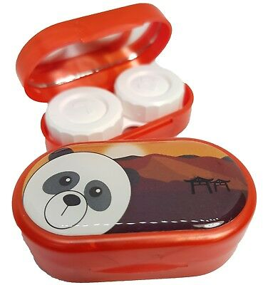 Cute Animals Mirror Case - Contact Lens Soaking Storage Case UK MADE - Panda