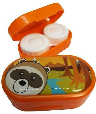 Cute Animals Mirror Case - Contact Lens Soaking Storage Case UK MADE - Raccoon