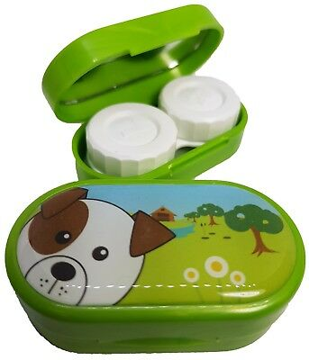 Cute Animals Mirror Case - Contact Lens Soaking Storage Case UK MADE - Dog