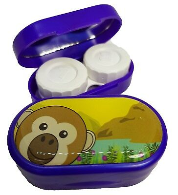 Cute Animals Mirror Case - Contact Lens Soaking Storage Case UK MADE - Monkey