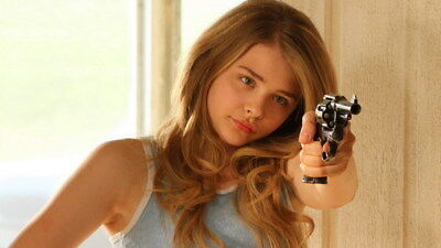 "014 Chloe Moretz - Hit Girl Beauty Hot Movie Actress Star 42""x24"" Poster"