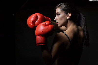 "019 Girl Boxer - Fight Trainning Beauty Boxing Sports 36""x24"" Poster"