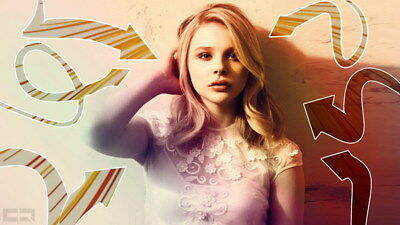"025 Chloe Moretz - Hit Girl Beauty Hot Movie Actress Star 42""x24"" Poster"