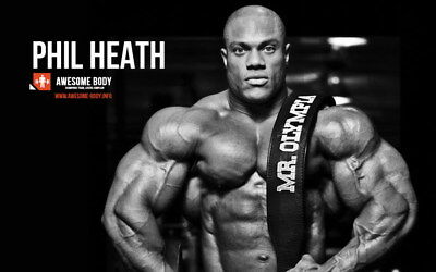 """252 GYM - Phil Heath Body Building Muscle Exercise Work Out 38""""x24"""" Poster"""