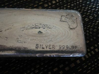 Australia Geomin Silver Bar 46.49 Ounces Old Vintage 999.9