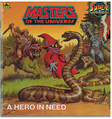 Masters of the Universe Comic - A HERO IN NEED - Golden Book - He Man - Vintage
