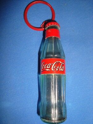 Old Vintage Plastic Miniature Coca Cola Bottle Shape Key chain from India 1980