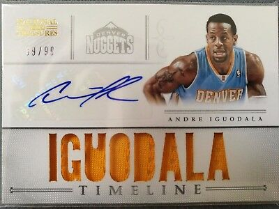 2012-13 Panini National Treasures - Timeline - Player Autograph- Andre Iguodala