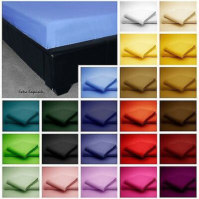 New Luxury Polycotton  Fitted Sheets Single Bed Plus Pillowcase Various Colours